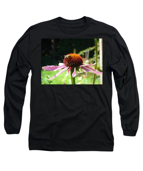 Cone Flower And Honey Bee Long Sleeve T-Shirt