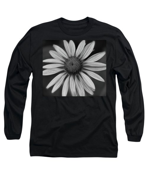 Coneflower In Black And White Long Sleeve T-Shirt