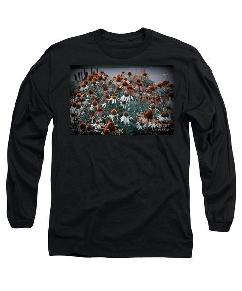 Coneflowers Bits Of Torquise Long Sleeve T-Shirt