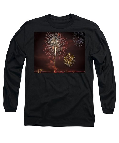 Conesus Ring Of Fire 2015 Long Sleeve T-Shirt by Richard Engelbrecht