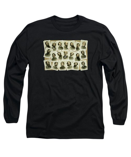 Confederate Commanders Of The Civil War Long Sleeve T-Shirt