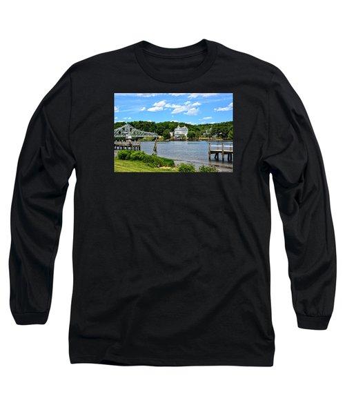 Connecticut River - Swing Bridge - Goodspeed Opera House Long Sleeve T-Shirt