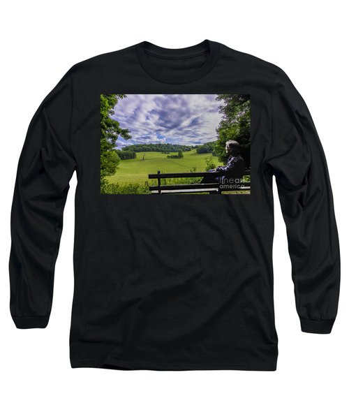 Contemplating The Beautiful Scenery Long Sleeve T-Shirt