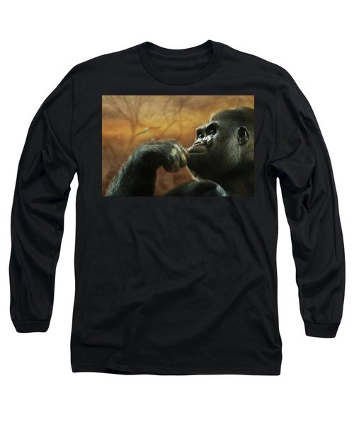 Long Sleeve T-Shirt featuring the photograph Contemplation by Lori Deiter