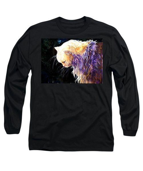 Long Sleeve T-Shirt featuring the painting Contemplation by Sherry Shipley