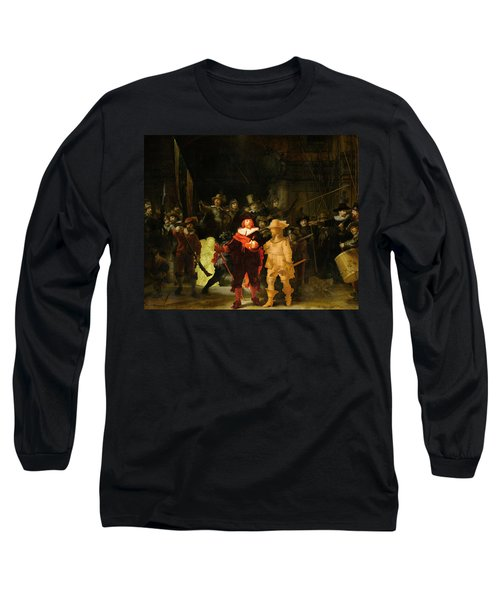 Contemporary 1 Rembrandt Long Sleeve T-Shirt by David Bridburg