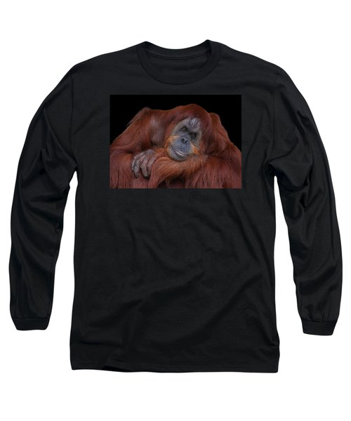 Contented Orangutan Long Sleeve T-Shirt