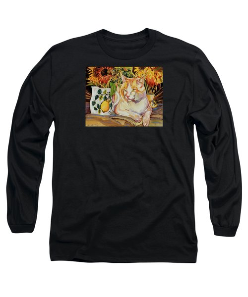 Long Sleeve T-Shirt featuring the painting Contentment by Bob Coonts