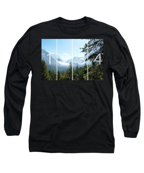 Controlled Burn Of Yosemite Panoramic Map Long Sleeve T-Shirt by Michael Bessler