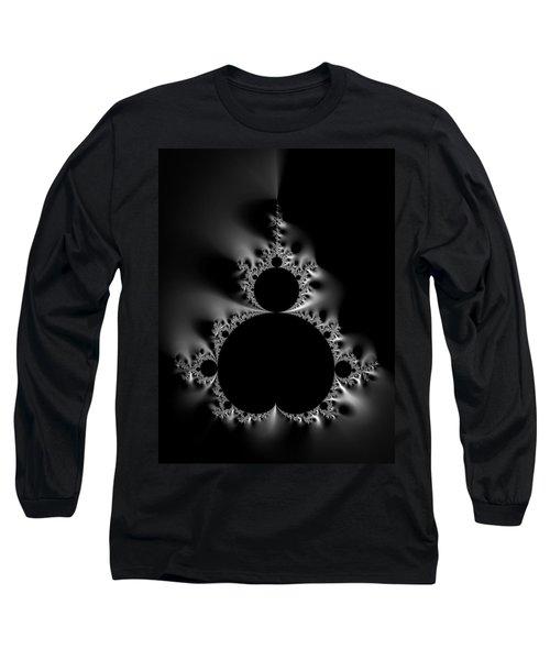 Cool Black And White Mandelbrot Set Long Sleeve T-Shirt