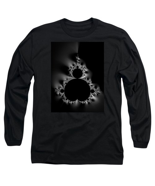Cool Black And White Mandelbrot Set Long Sleeve T-Shirt