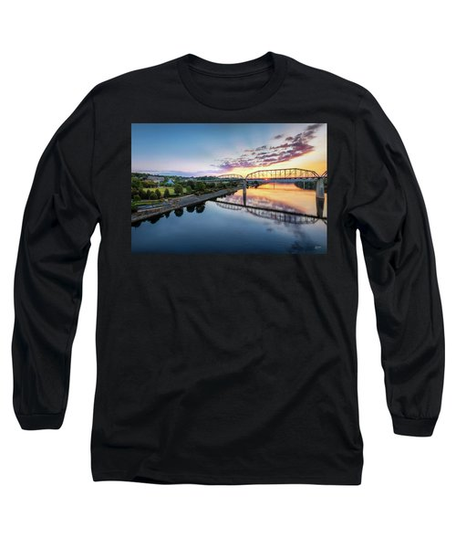 Coolidge Park Sunrise Long Sleeve T-Shirt by Steven Llorca