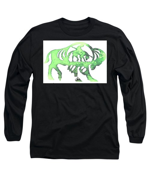 Copper Buffalo Long Sleeve T-Shirt by Larry Campbell