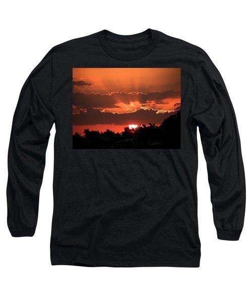 Copper Sunset Long Sleeve T-Shirt by Rosalie Scanlon