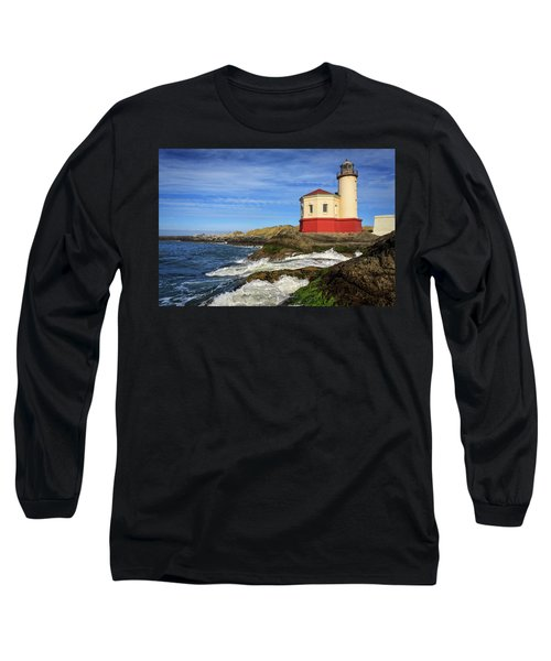 Coquille River Lighthouse At Bandon Long Sleeve T-Shirt