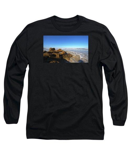 Coquina Beach Long Sleeve T-Shirt by Robert Och