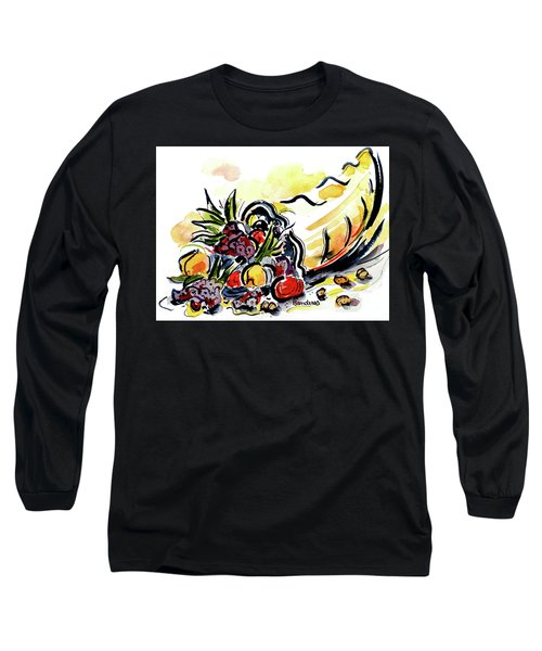 Long Sleeve T-Shirt featuring the painting Cornucopia by Terry Banderas