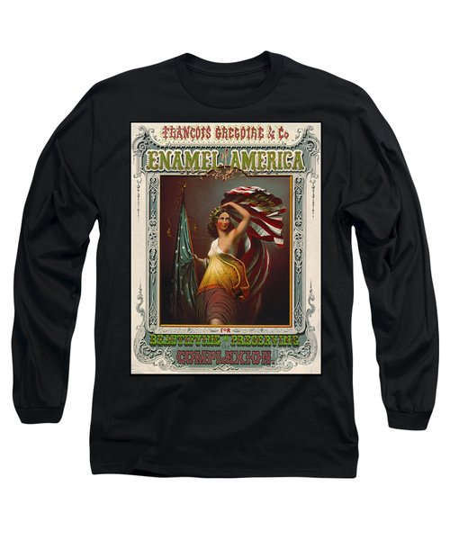 Cosmetics Ad 1866 Long Sleeve T-Shirt by Padre Art
