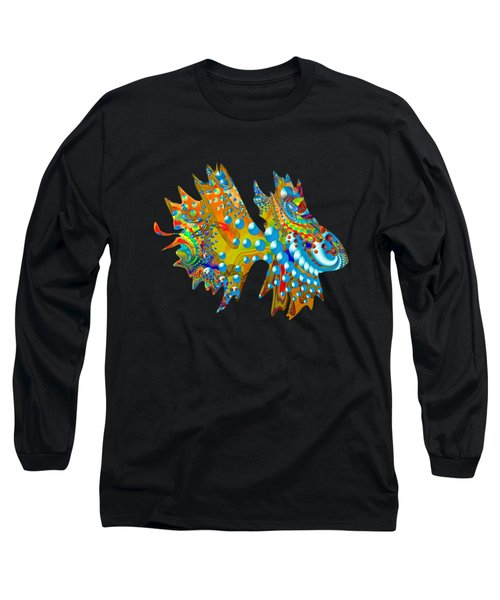 Cosmic Guppy Long Sleeve T-Shirt by Deborah Runham