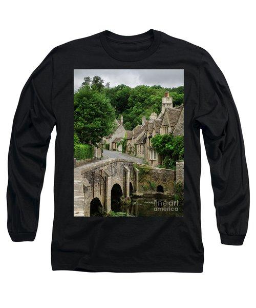 Cotswolds Village Castle Combe Long Sleeve T-Shirt