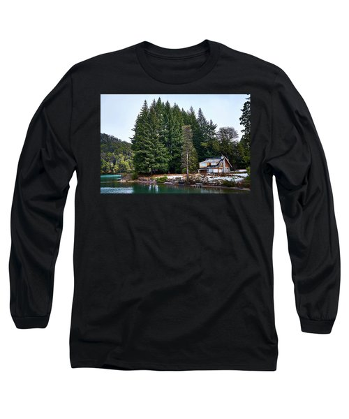 Little Cottage And Pines In The Argentine Patagonia Long Sleeve T-Shirt