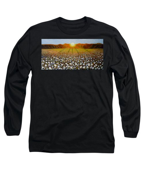 Cotton Field Sunset Long Sleeve T-Shirt