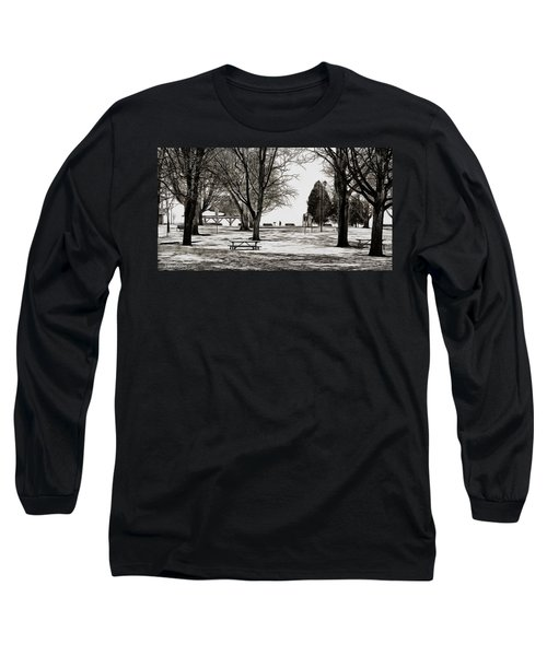 Couchiching Park In Pencil Long Sleeve T-Shirt