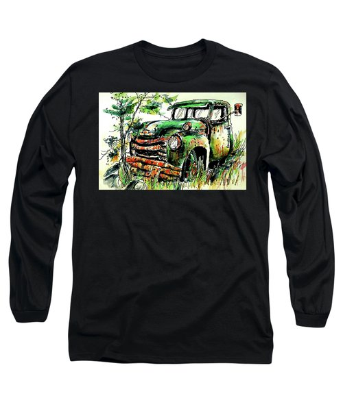 Long Sleeve T-Shirt featuring the painting Country Antiques by Terry Banderas
