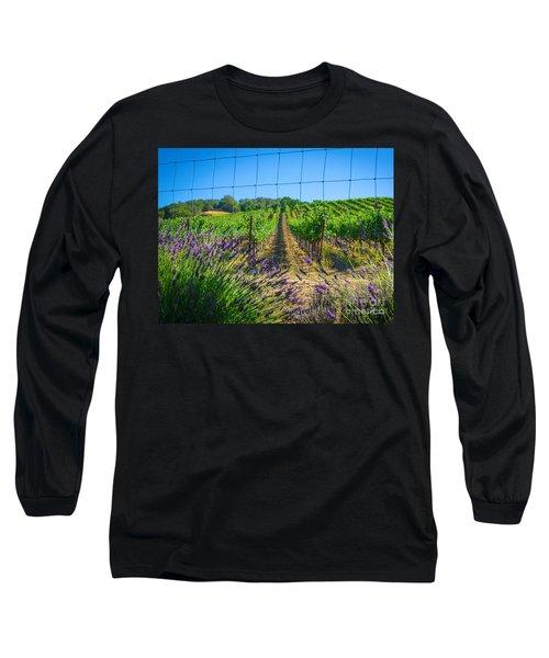 Country Lavender V Long Sleeve T-Shirt