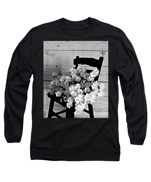 Country Porch In B And W Long Sleeve T-Shirt by Sherry Hallemeier