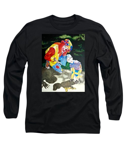 Couple Of Clowns Long Sleeve T-Shirt by Lance Gebhardt