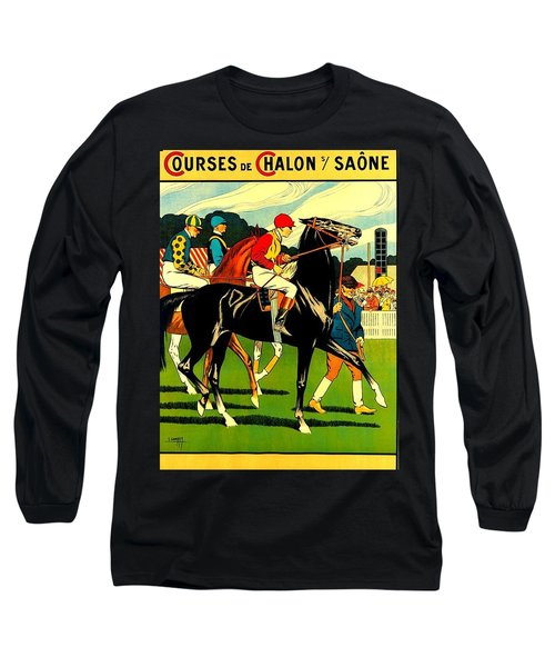 Courses De Chalon French Horse Racing 1911 II Long Sleeve T-Shirt