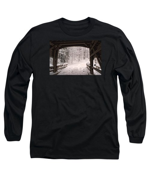 Covered Bridge Long Sleeve T-Shirt by Michael McGowan