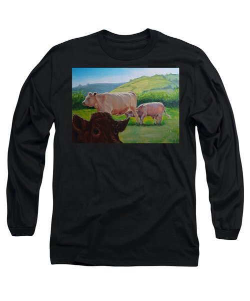 Cow And Calf Painting Long Sleeve T-Shirt