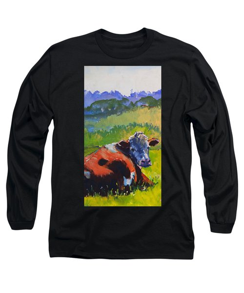 Cow Lying Down On A Sunny Day Long Sleeve T-Shirt