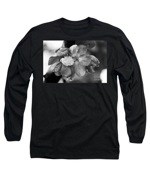 Crabapple Blossom In Rain Long Sleeve T-Shirt by Marilyn Carlyle Greiner