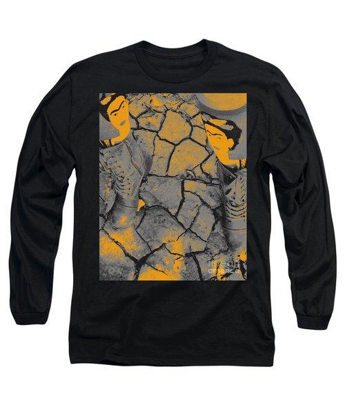 Cracked Earth With Frieda Khalo. Long Sleeve T-Shirt