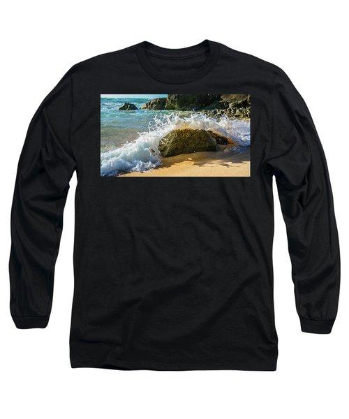 Crashing Over The Rock Long Sleeve T-Shirt