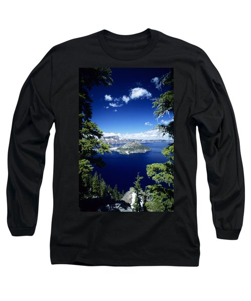 Crater Lake Long Sleeve T-Shirt by Allan Seiden - Printscapes