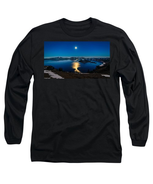 Crater Lake Moonlight Long Sleeve T-Shirt