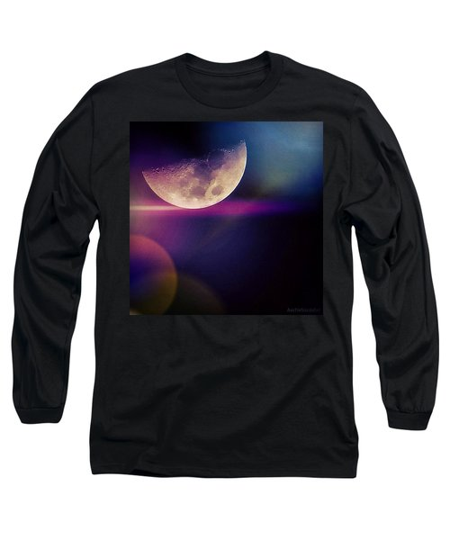 #crazy #colorful #fun #moon And The Long Sleeve T-Shirt