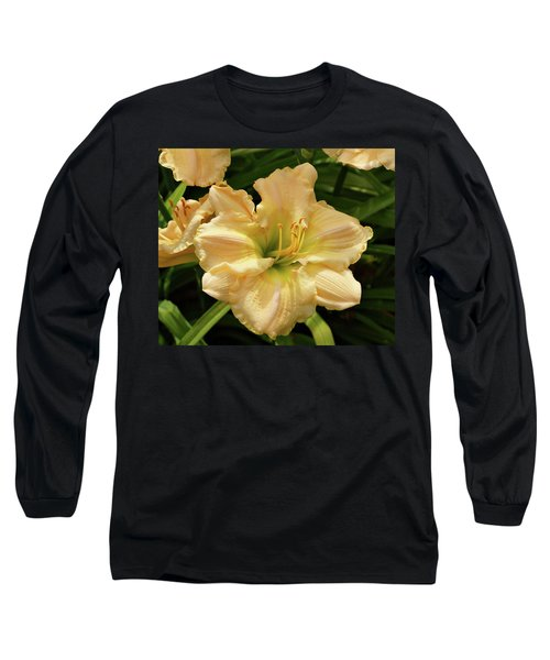 Long Sleeve T-Shirt featuring the photograph Cream Daylily by Sandy Keeton