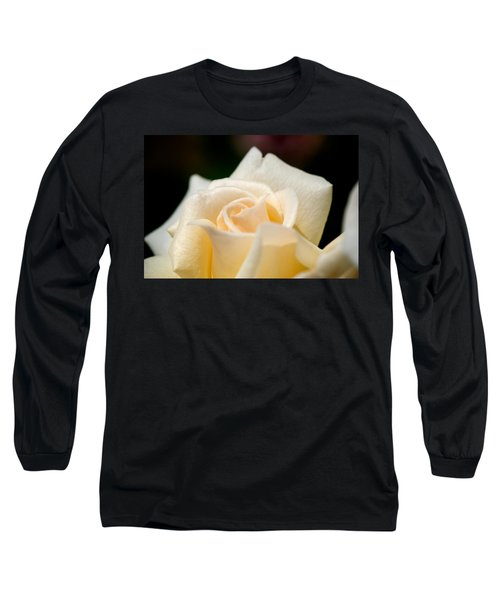 Cream Rose Kisses Long Sleeve T-Shirt