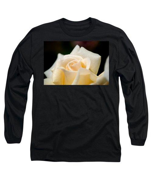 Cream Rose Kisses Long Sleeve T-Shirt