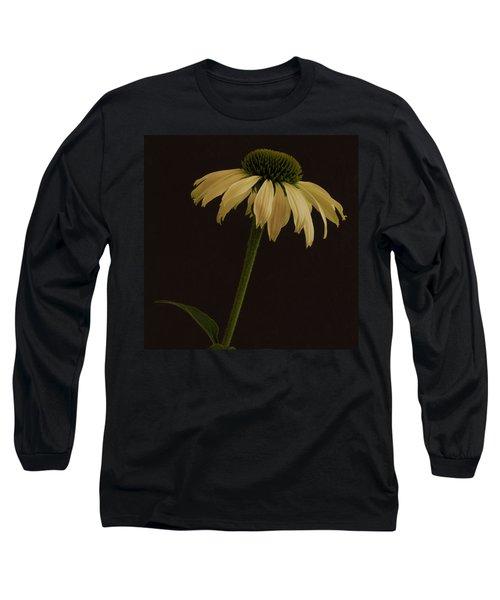 Creamy Yellow Coneflower Long Sleeve T-Shirt