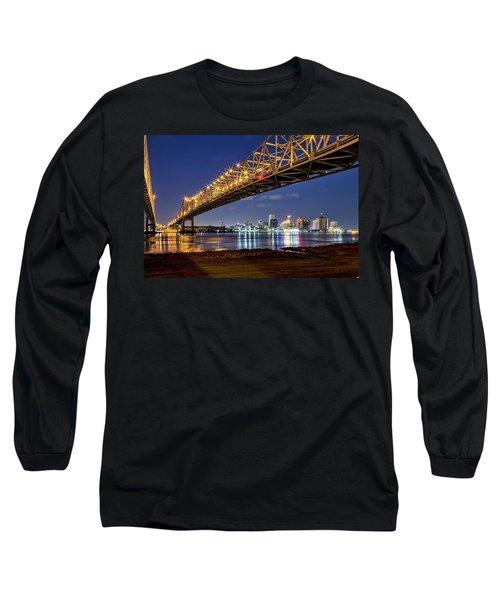 Crescent City Bridge, New Orleans Long Sleeve T-Shirt