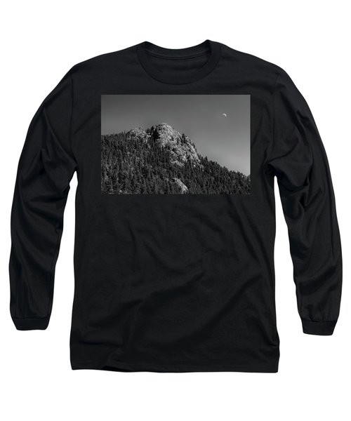 Long Sleeve T-Shirt featuring the photograph Crescent Moon And Buffalo Rock by James BO Insogna