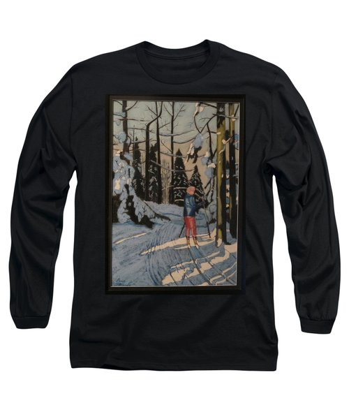 Cross Country Skiing In Upstate Ny Long Sleeve T-Shirt