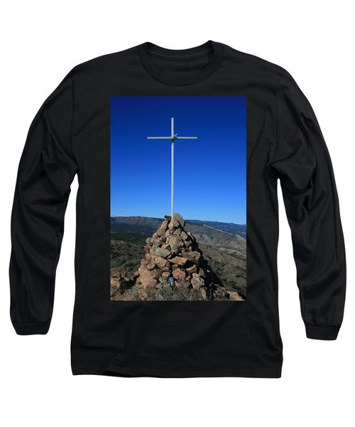 Cross On Fremont Peak Long Sleeve T-Shirt