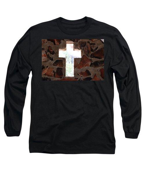 Cross Shaped Window In Chapel  Long Sleeve T-Shirt